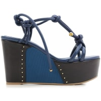 Sergio RossiWedges for Women On Sale in Outlet, Petrol Blue, Leather, 2016, 5.5 6.5