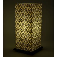 Shady IdeasBeige And Black Handcrafted Lamp