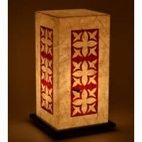 Shady IdeasBeige Handcrafted Lamp