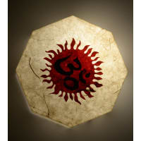Shady IdeasBeige Handcrafted MDF & Recycled Acrylic Lamp