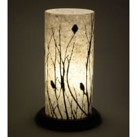 Shady IdeasBeige Handcrafted Printed Paper Lamp