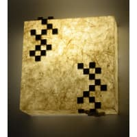 Shady IdeasBeige Handcrafted Recycled Acrylic Lamp