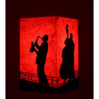 Shady IdeasBeige Handcrafted Steel Lamp