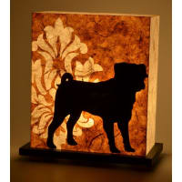 Shady IdeasBrown & Black Handcrafted Lamp
