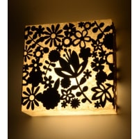 Shady IdeasMulticoloured Handcrafted MDF & Recycled Acrylic Lamp