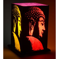 Shady IdeasMulticoloured Handcrafted Printed Paper Lamp