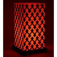 Shady IdeasOrange And Black Handcrafted Lamp