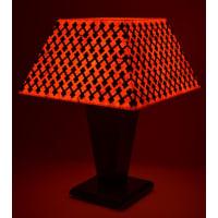 Shady IdeasOrange & Black Handcrafted Lamp