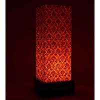 Shady IdeasOrange & Brown Handcrafted Lamp