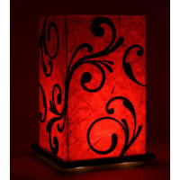Shady IdeasRed & Black Handcrafted Lamp