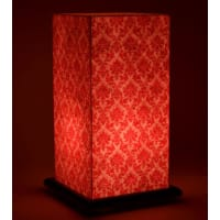 Shady IdeasRed Handcrafted Lamp