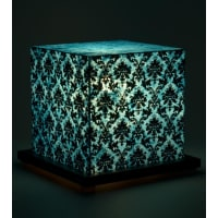 Shady IdeasTeal & Black Handcrafted Lamp