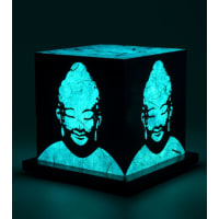 Shady IdeasTeal Handcrafted Lamp