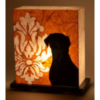 Shady IdeasYellow & Black Handcrafted Lamp