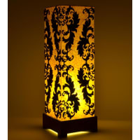 Shady IdeasYellow & Brown Handcrafted Lamp