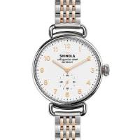 Shinola38mm Canfield Watch with Bracelet Strap, Silver/Rose Golden