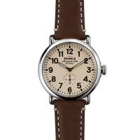 Shinola41mm Runwell Mens Watch, Dark Brown/Cream