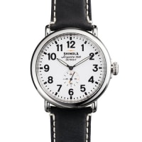 Shinola47mm Runwell Mens Watch, White/Black