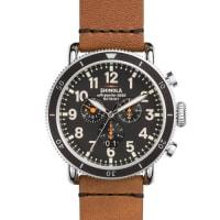 Shinola48mm Runwell Sport Chronograph Watch, Tan