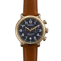 Shinola41mm Runwell Chronograph Watch, Dark Brown