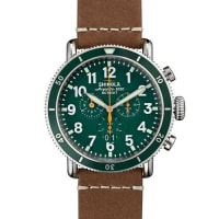 Shinola47mm Runwell Sport Chronograph Watch, Brown/Green