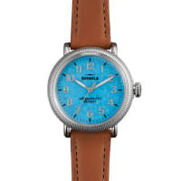 ShinolaRunwell Coin Edge Watch with Leather Strap, 38mm