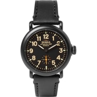 ShinolaThe Runwell 36mm Pvd-plated And Leather Watch - Black