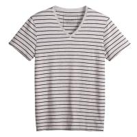La RedouteGestreepte T-shirt met V-hals en korte mouwen