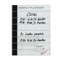 Sigelartverum Glas-Magnetboard als Weekly Planer