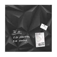 Sigelartverum Glas-Magnetboard Black Diamond 48 x 48 cm