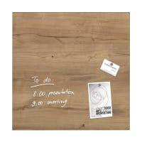 Sigelartverum Glas-Magnetboard Natural Wood 48 x 48 cm