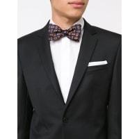 SIMEONE NAPOLIoval print bow tie, Mens, Blue
