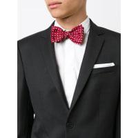 SIMEONE NAPOLIpolka dot bow tie, Mens, Red