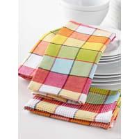Simons MaisonVibrant check tea towels