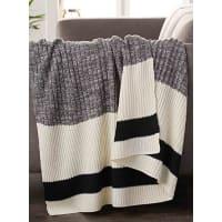 Simons MaisonWool-sock stripe throw 130 x 150 cm