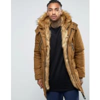Sixth JuneParka With Faux Fur Hood And Lining - Camel