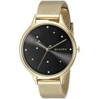 SkagenSKW2385 Womens Gold Dial Analog Quartz Watch