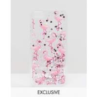 Skinny DipLiquid Glitter Flamingo iPhone 6/6s case - Multi