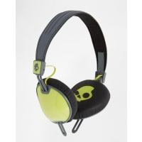 Skull CandySkullcandy Navigator On-Ear Headphones with Mic - Hot green/hot grey