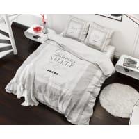 SleeptimeElegant Suite - Dekbedovertrekset - Lits-Jumeaux - 240x200/220 cm + 2 kussenslopen 60x70 cm - Wit
