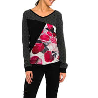 smashSmash Lorda Jersey Estampado-A1613311, Pull Femme, Noir, S