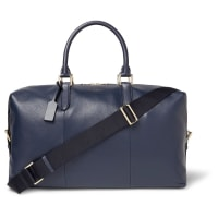 SmythsonBurlington Full-grain Leather Holdall - Navy