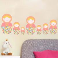 SnuggleDust StudiosBabushka Matryoshka Dolls Pk5 Fabric Wall Stickers