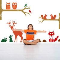 SnuggleDust StudiosFriendly Woodland Animals Wall Stickers