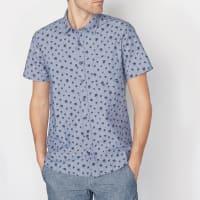 Soft GreyBedrukt hemd met korte mouwen
