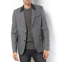 Soft GreyVeste de blazer, col faux cuir.LIVRAISON GRATUITE à partir de 49EUR