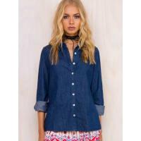 Somedays LovinWomens Somedays Lovin Blues Chambray Shirt Dark Blue L/14