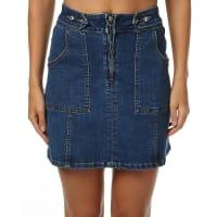 Somedays LovinMoss Denim Zip Front Skirt Blue