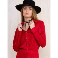 Somedays LovinWomens Somedays Lovin Veronica Suede Shirt Red L/14