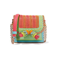 Sophia WebsterClaudie Woven Pvc And Leather Shoulder Bag - Coral